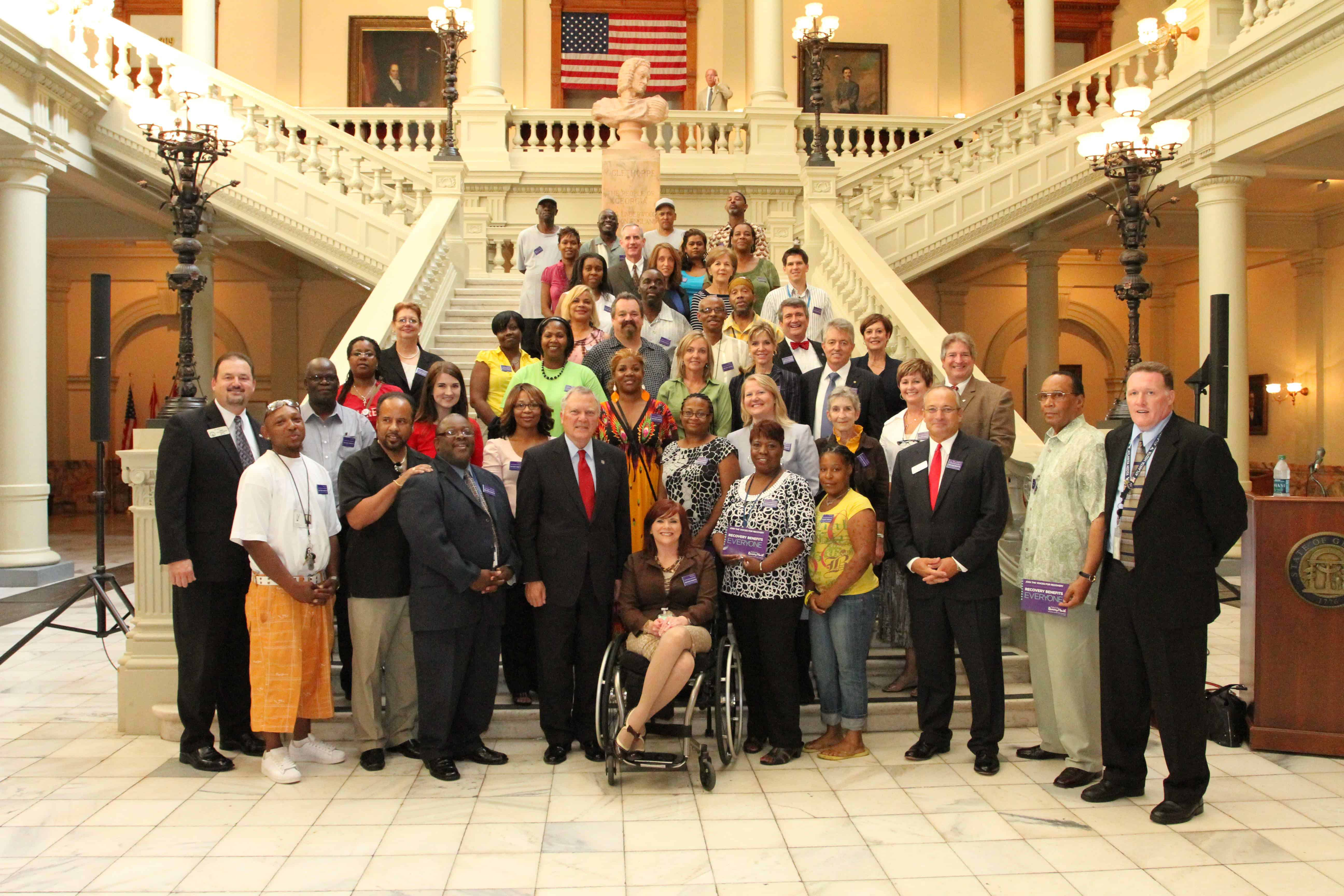 Governor Deal Recovery Day 2011 With Jody Tarleton